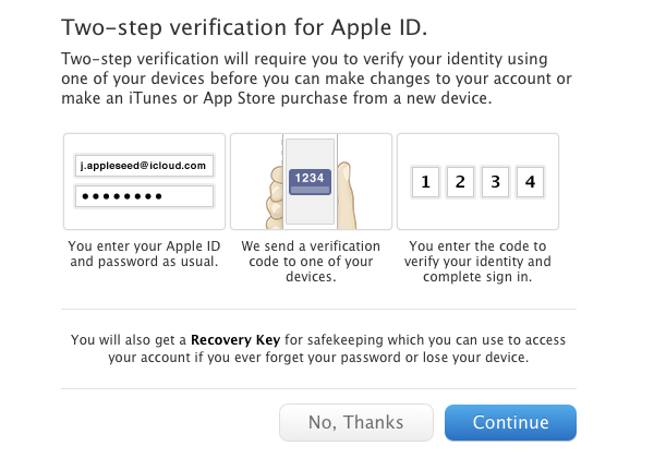 Apple two-factor authentication overview