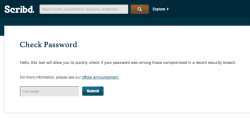 Scribd password checker