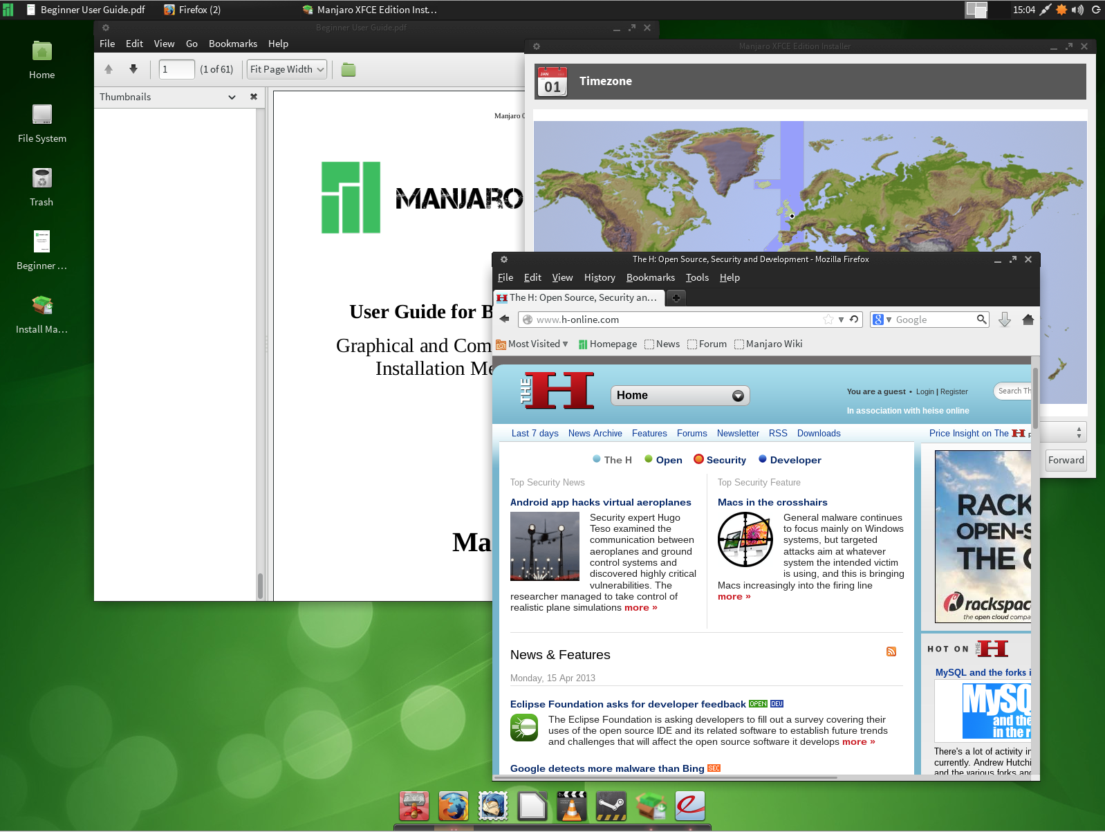 Manjaro screenshot