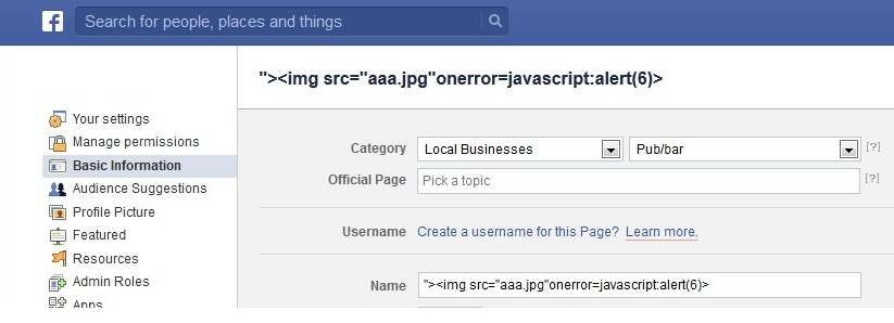 JavaScript in page names
