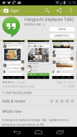 The new Hangouts app