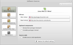 Linux Mint sources