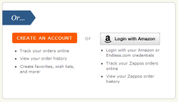 Logging in to Zappos with Amazon