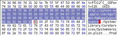 imei string in hex editor