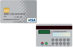 Artist's impression of a Visa PIN Card