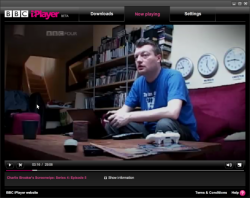 iPlayer plays back downloaded Charlie Brooker who probably wouldn't approve