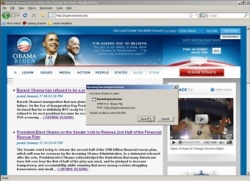 An example of a fake Barack Obama site and malware download lure