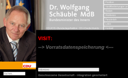 Vandalised via a hole in Typo3: the German Interior Minister's web site