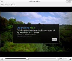 The Moonshine desktop player.