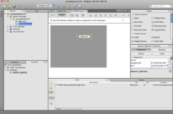 The new NetBeans look for Mac OS X.