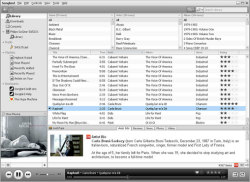 The Songbird media player interface.