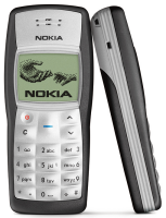 The Nokia 1100 mobile phone.