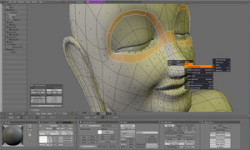 The Blender modeling and shading interface.
