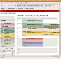 SchoolTool screenshot