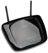 The Linksys WRT160NL wireless router.
