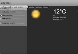 Ubiquity screenshot