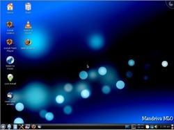 The default Mandriva Linux One 2009.1 LiveCD desktop.