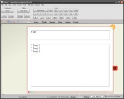 "The current ""Floating Toolbar"" UI design prototype for OpenOffice."