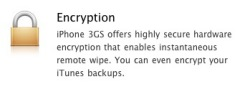 iPhone encryption notice