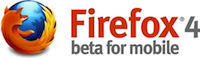 Firefox 4 Beta for Mobile Logo