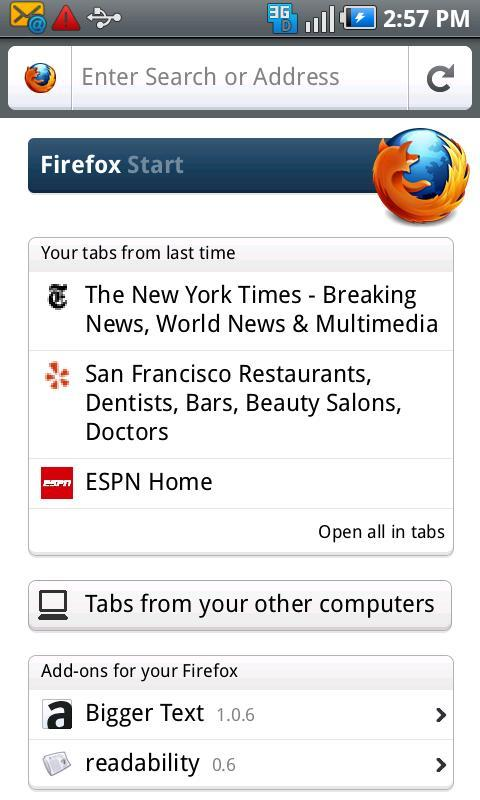 Firefox 4 for Mobile on Android