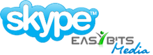 Skype and EasyBits logos