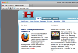 Firefox 7's modified URL screenshot