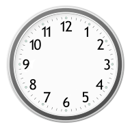 Handless clock icon
