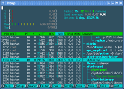 htop 1.0 screenshot