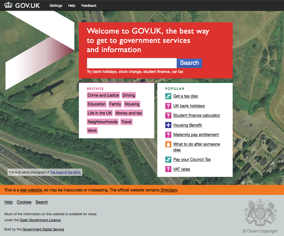 gov.uk beta screenshot