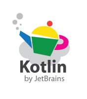 Kotlin logo - The Kettle imagery is representative of a supposed connection between the word Kotlin and Kettle