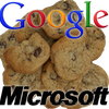 Microsoft and Google cookies icon
