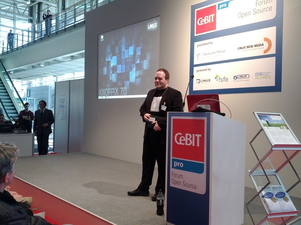 Klaus Knopper at CeBIT 2012