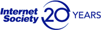 Internet Society 20 years logo