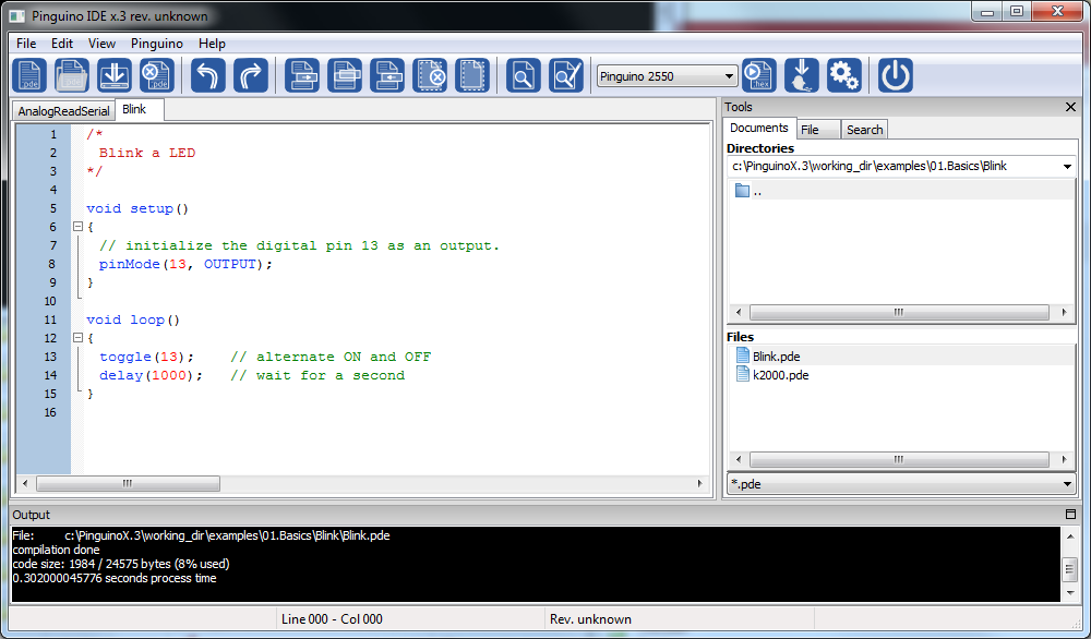 Pinguino IDE Screenshot