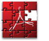 Adobe Reader puzzle logo