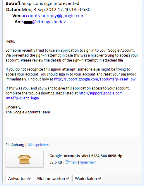 Google Phishing