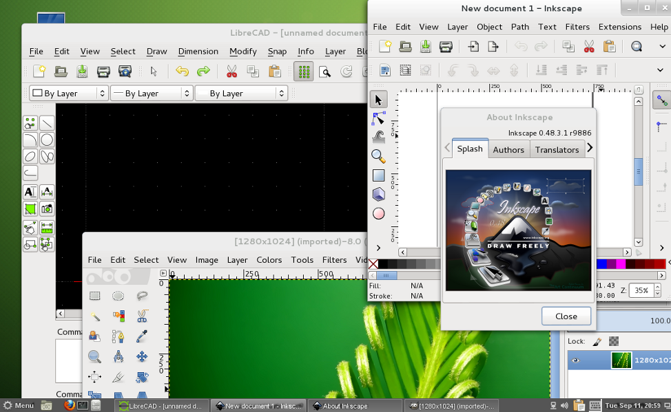 openSUSE Edu Li-f-e 12.2 screenshot