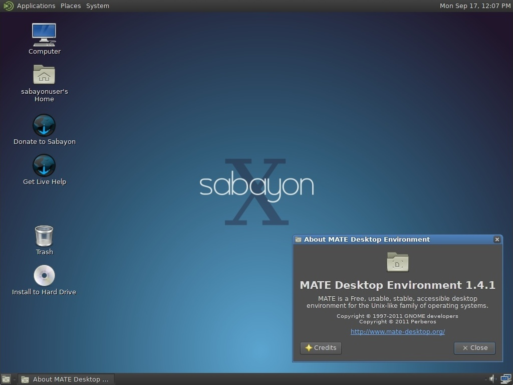 Sabayon 10 screenshot