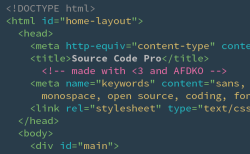 Source Code Pro screenshot