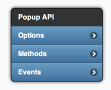 A jQuery popup as a tooltip with menus