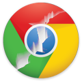 Chrome logo cracked