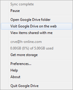 Google Drive Windows client