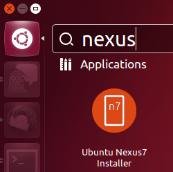 Ubuntu Dash screenshot