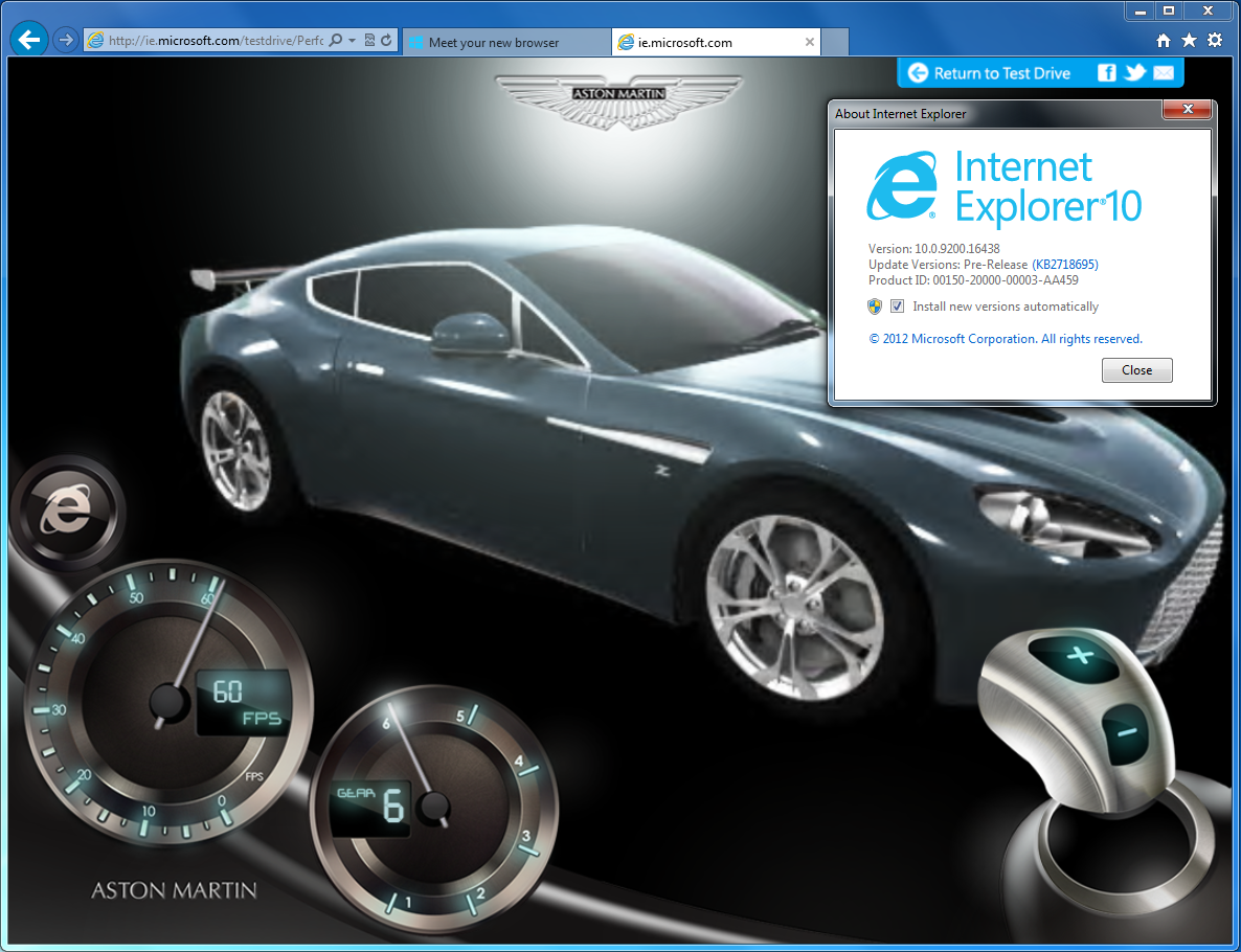 IE 10 screenshot