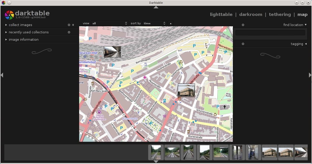 Geotagging with darktable