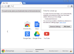 Blocking sideload extensions with Chrome 25