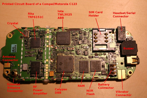 The C123 circuit board