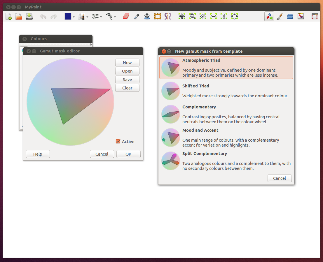MyPaint 1.1.0 screenshot