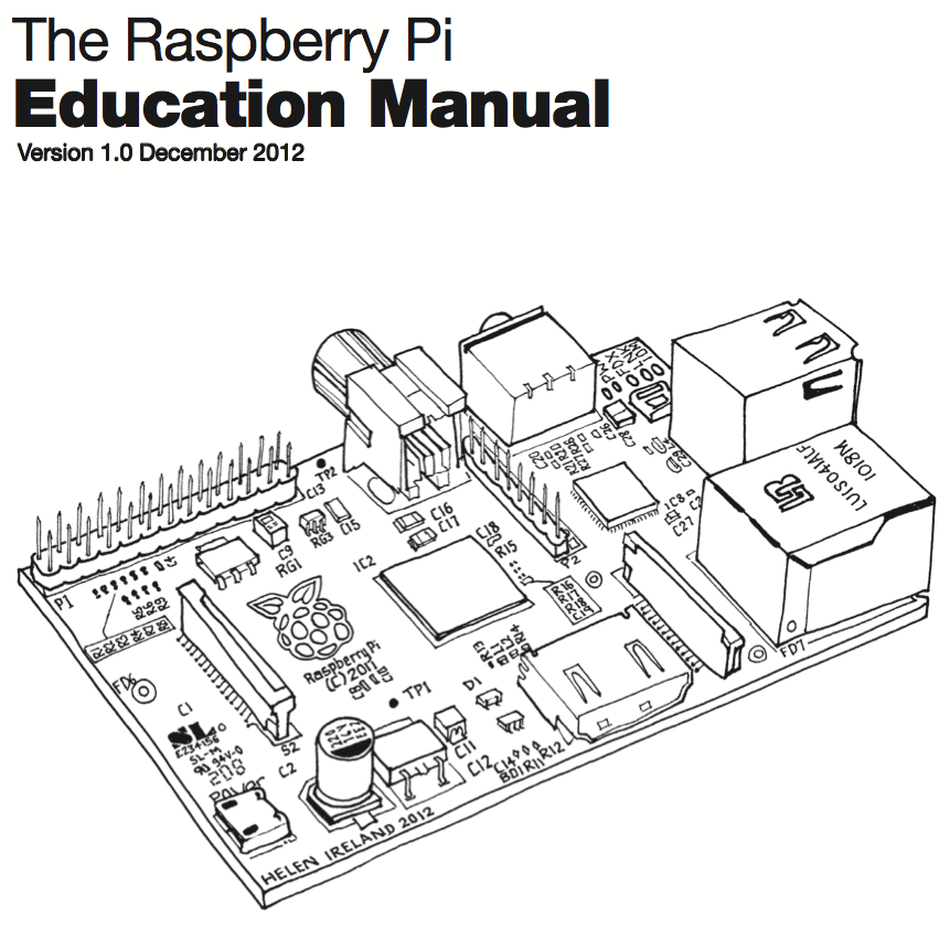 The cover of the Raspberry Pi Education Manual